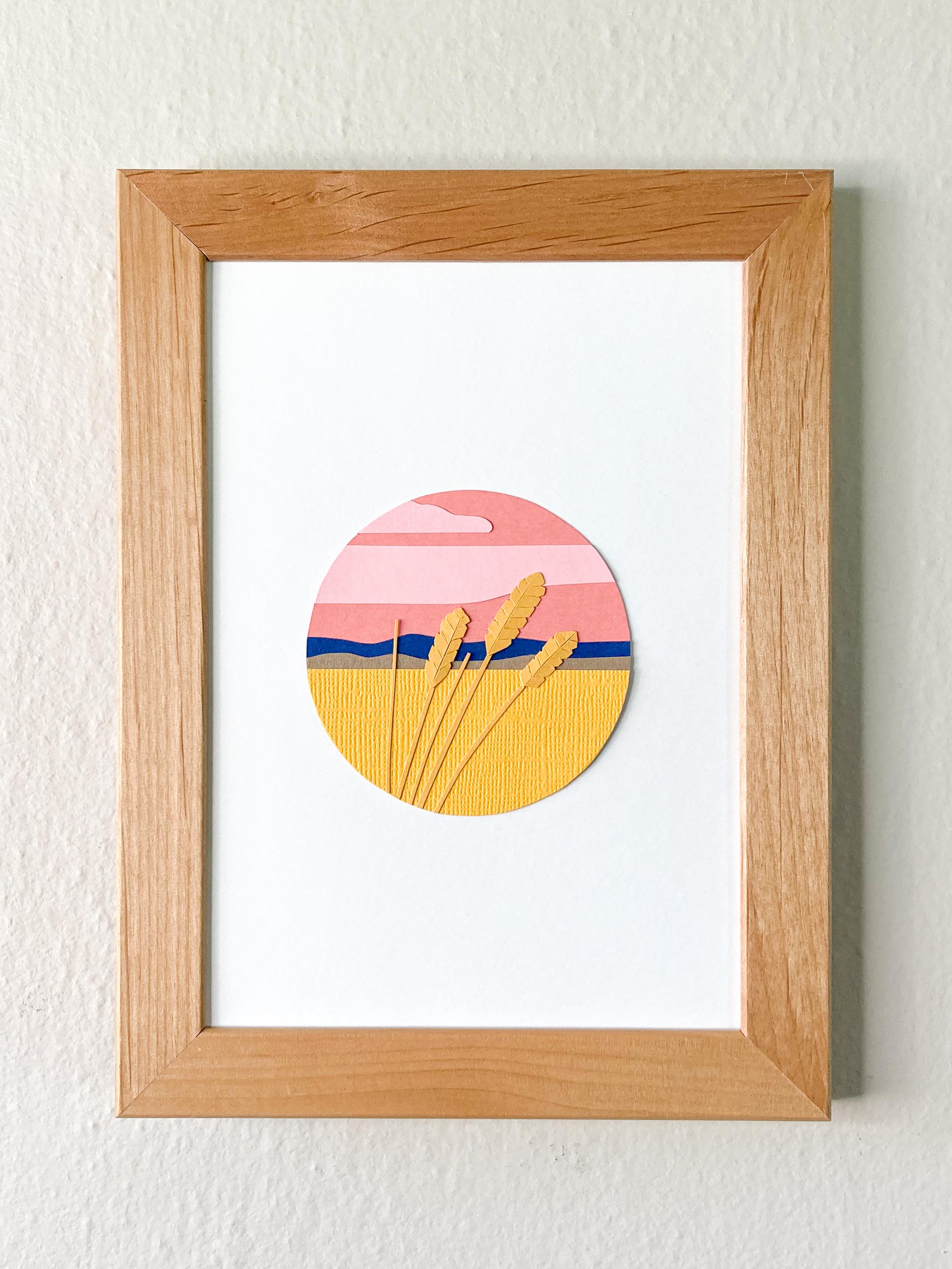 Walla Walla Wheat Sunset | 5 x 7 Cut Paper $160