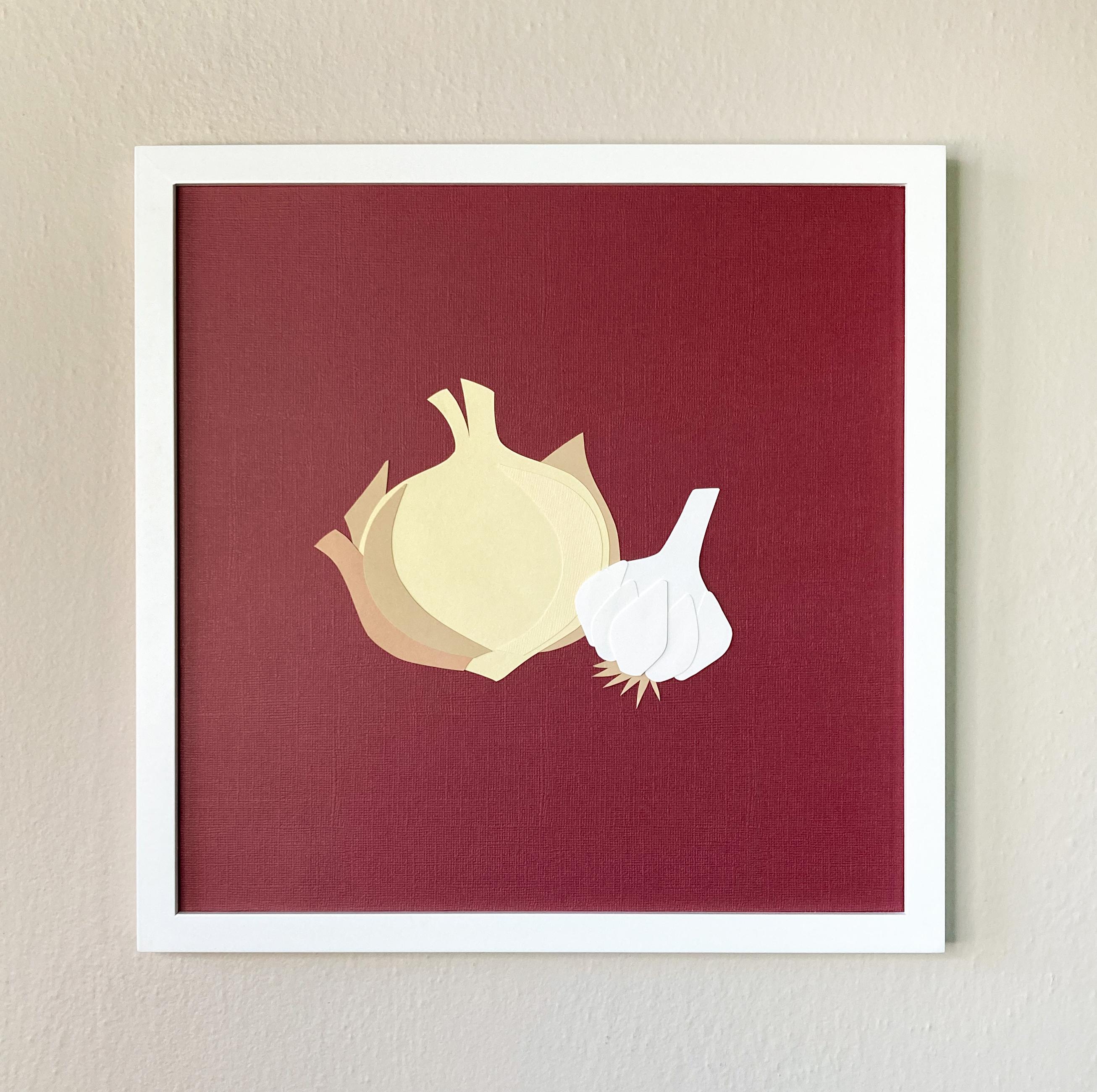 Onion & Garlic | 12 x 12 Cut Paper $120