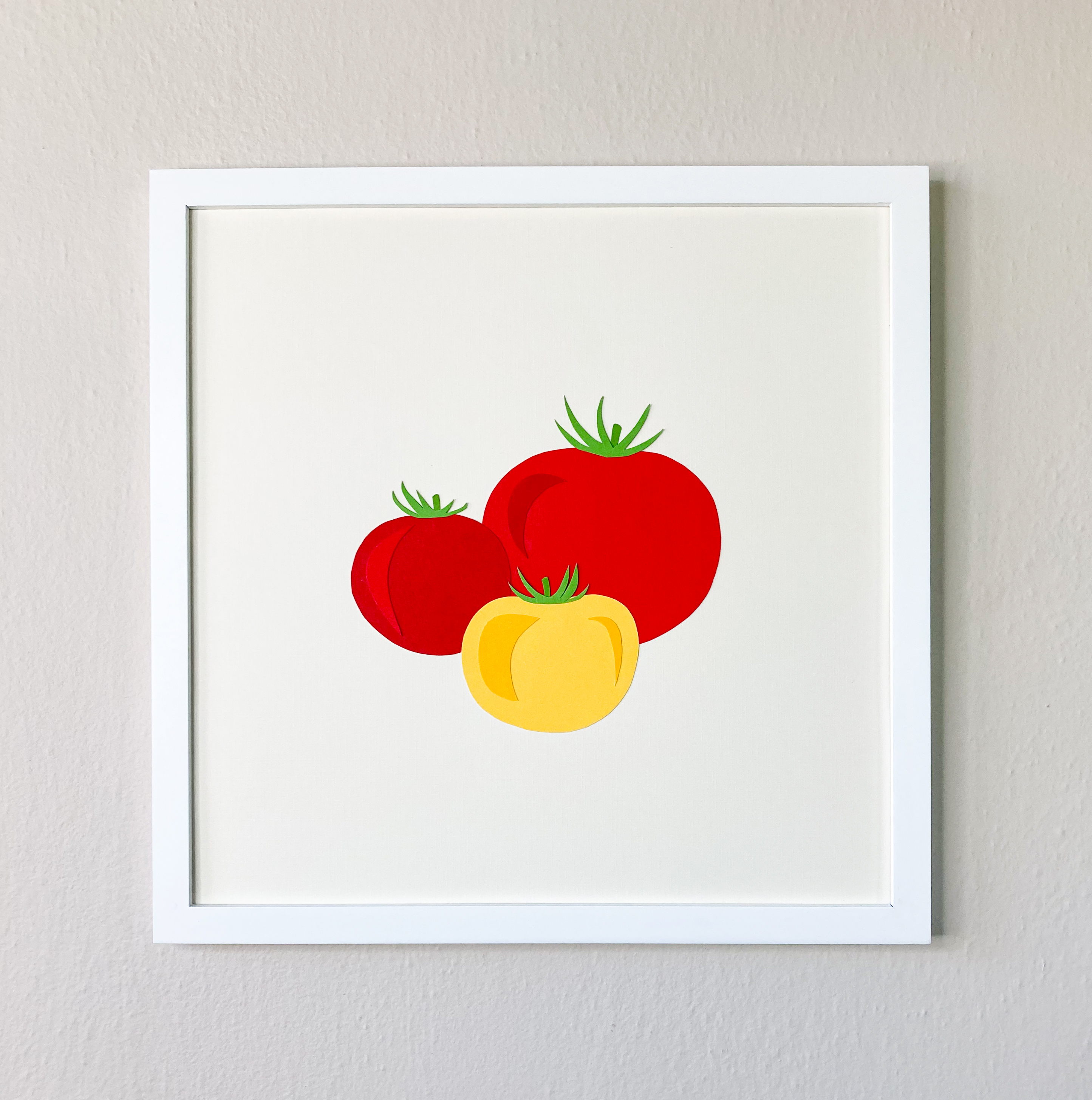 Heirloom Tomatoes | 12 x 12 Cut Paper $100