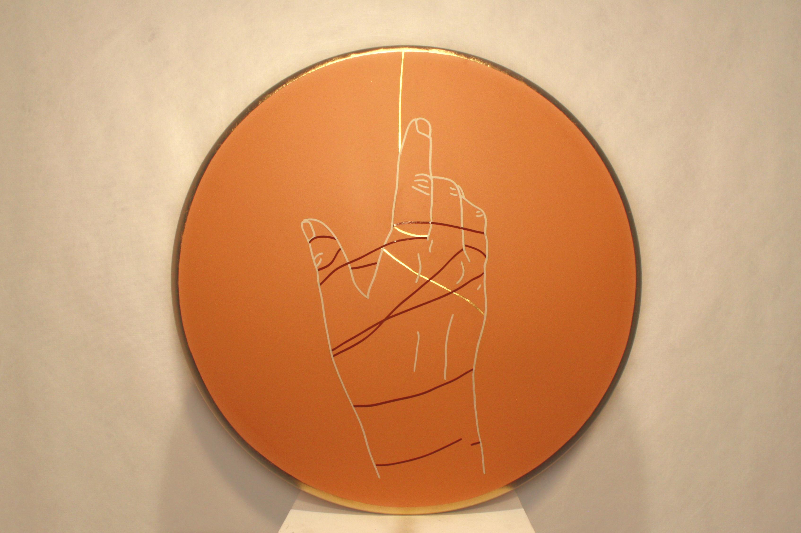 Hannah Bartman | Ariadne Gold Leaf, Vinyl, Acrylic 20x20 $300