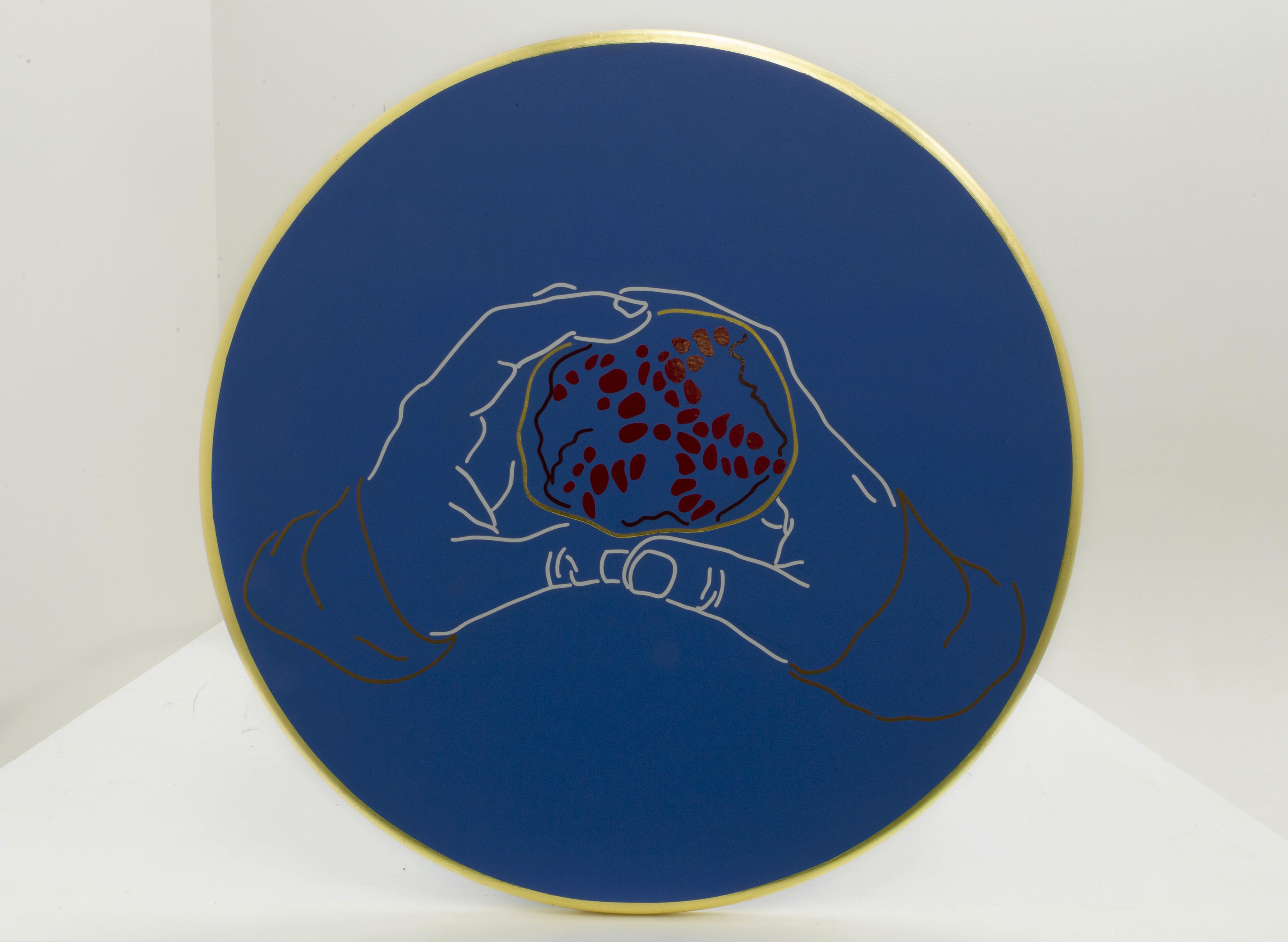 Hannah Bartman |  Persephone |  Gold leaf, Vinyl, Acrylic 20x20 $300