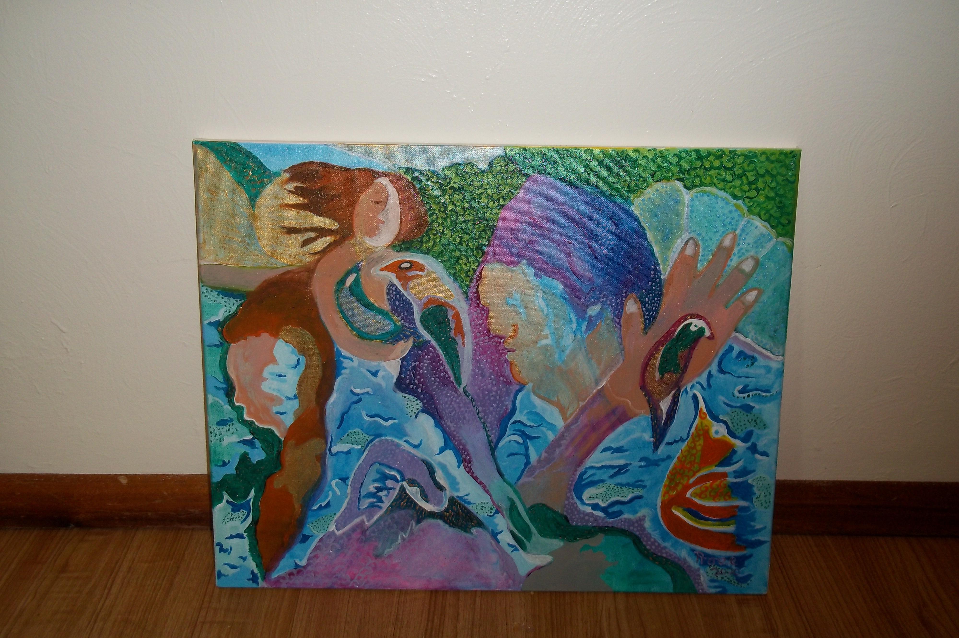 Mystical Journey (acrylic) - 16 x 20  - $250