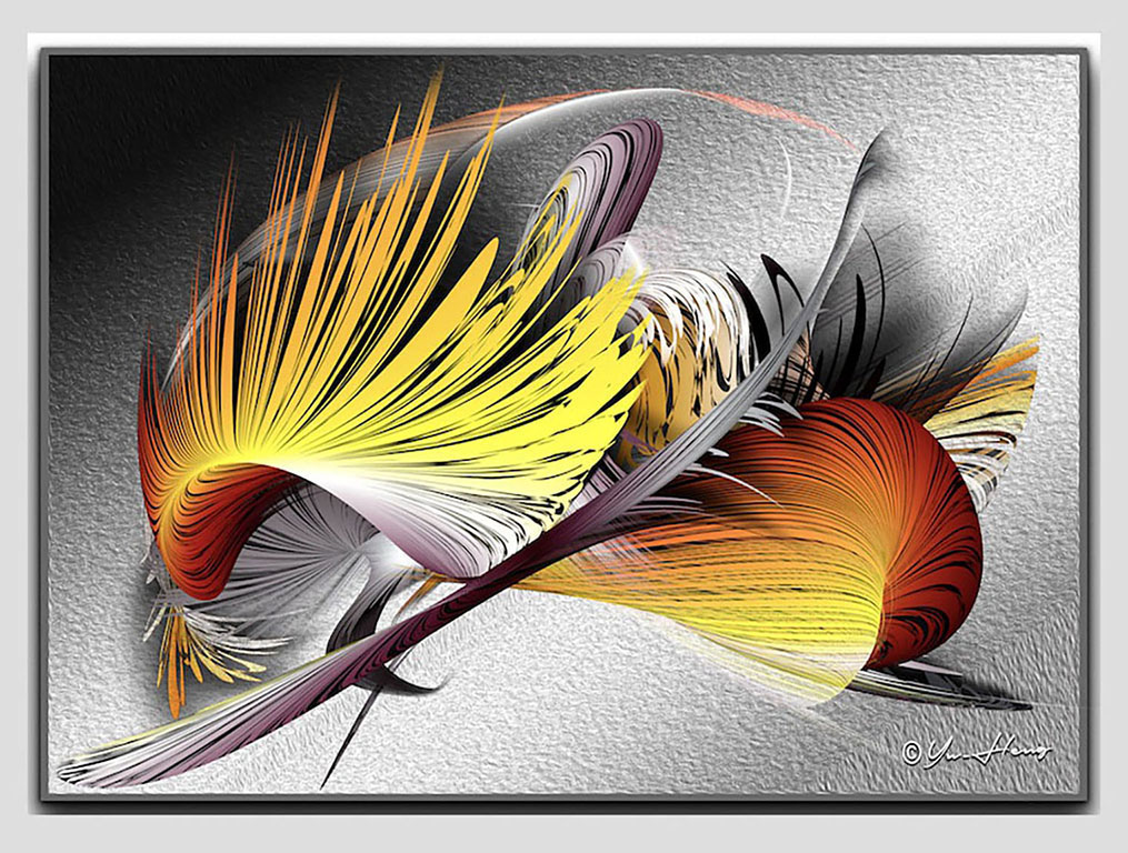 Fire Wing 20 x 30 print on aluminum panel $359